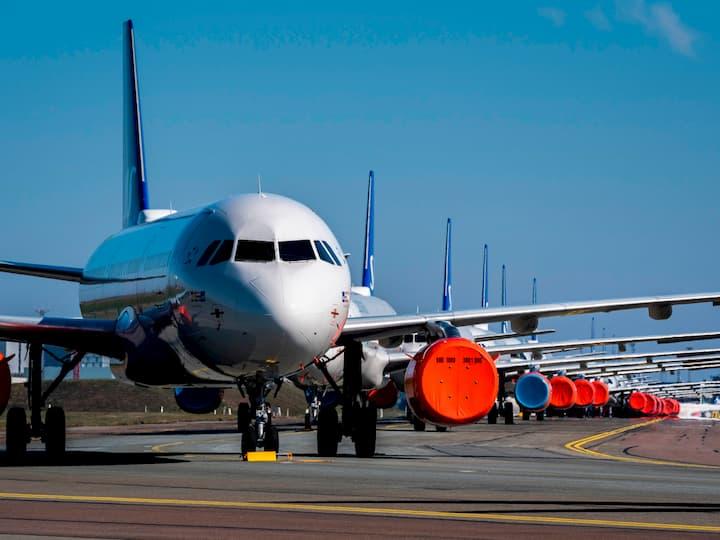 Scandinavian Airlines planes in Copenhagen, Denmark, Martin Sylvest, Ritzau/Scanpix/AFP/Getty