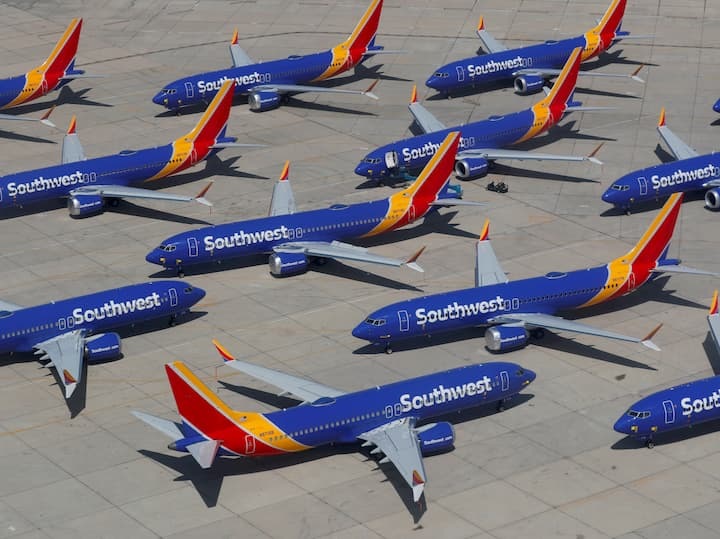 Southwest Airlines Boeing 737 Max aircrafts grounded, Mike Blake, Reuters